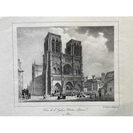 Vue de l'Église Notre Dame à Paris