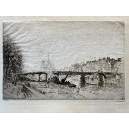 Le pont de la Tournelle, Paris, Novembre 1920
