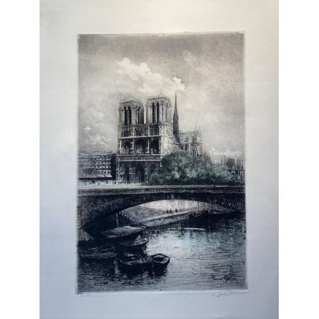 Notre Dame et la Seine, vers 1880