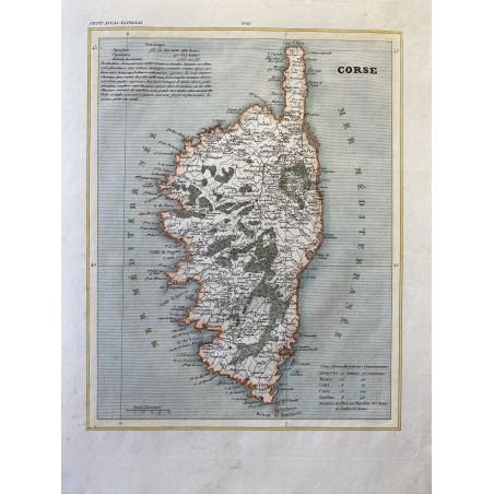 Carte de Corse, 1870
