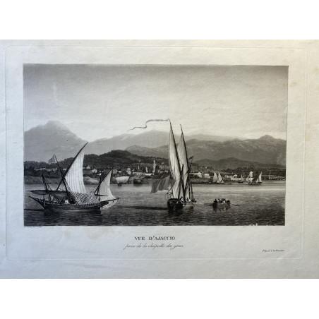 Vue d'Ajaccio, Louis Garneray, 1830