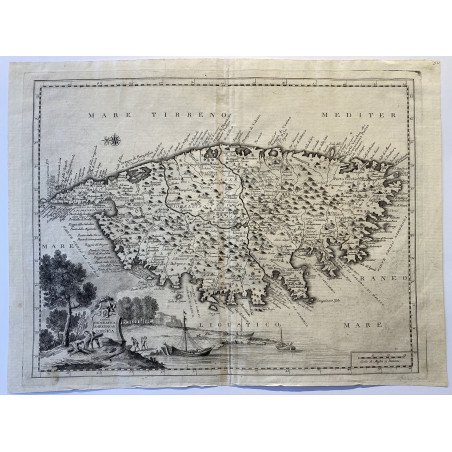 Carta Geografica del Regno di Corsica, Albrizzi, 1762