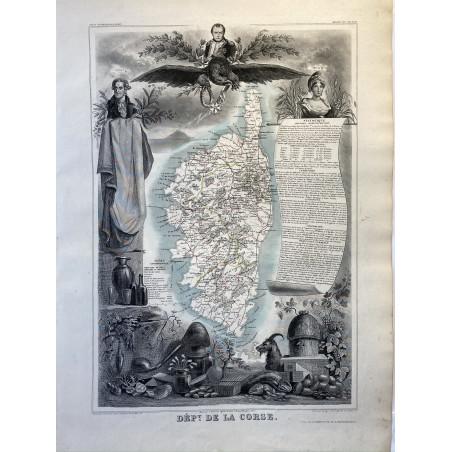 Département de la Corse, Louis Levasseur, Atlas national, vers 1850