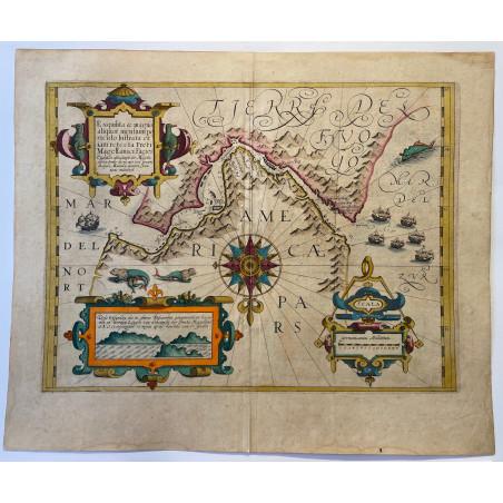 Carte du Détroit de Magellan, Mercator Hondius, 1616