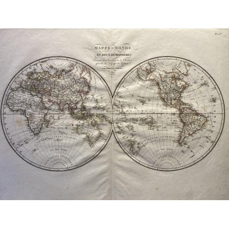 Mappemonde 1821