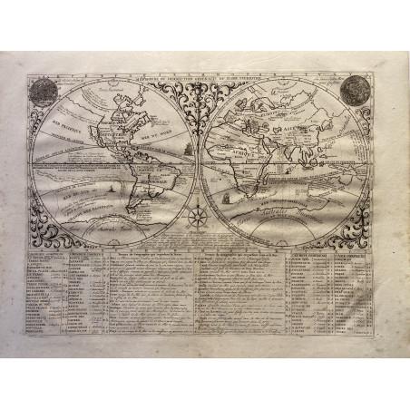 Mappemonde, Chatelain et Gueudeville, 1708