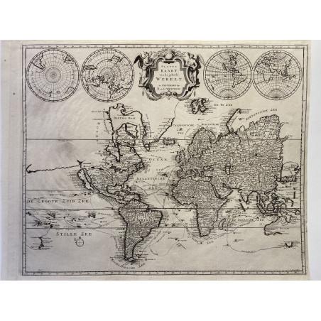 Carte du monde, R en G. Wetstein, Amsterdam, 1725