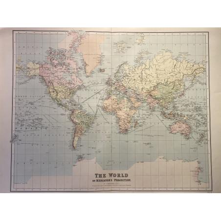 The world on Mercator's projection, Bartholomew, 1879