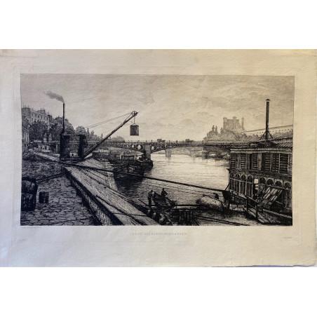Le pont des Saints Pères à Paris