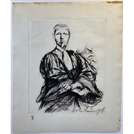Maitre Labori, lors du procès Dreyfus, Paul Renouard,1898