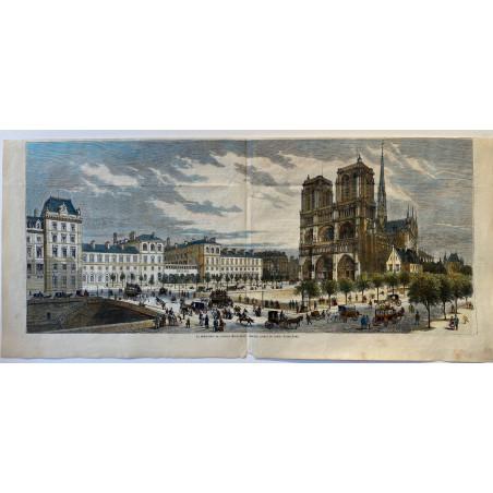 Nouvel aspect du parvis de Notre Dame, 1877.