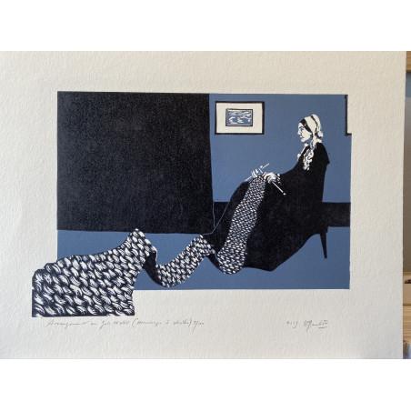 Arrangement en gris et noir (Hommage à Whistler)