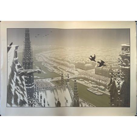 Henri RIVIERE, les Paysages Parisiens, du haut des tours de Notre Dame.
