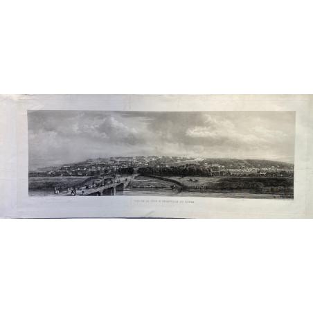 Vue de la côte d'Ingouville au Hâvre. Guesnu 1855