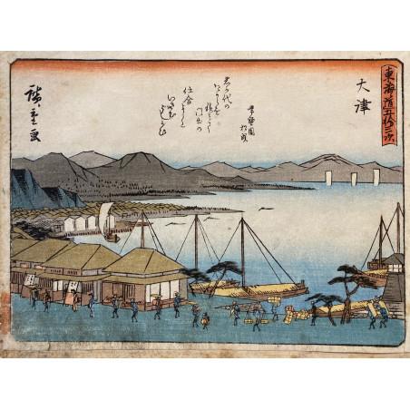 Ando HIROSHIGE, the 53 stations of Tokaïdo road, 1840-42, õtsu MINAKUCHI