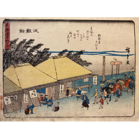 Ando HIROSHIGE, the 53 stations of Tokaïdo road, 1840-42, Chiryū