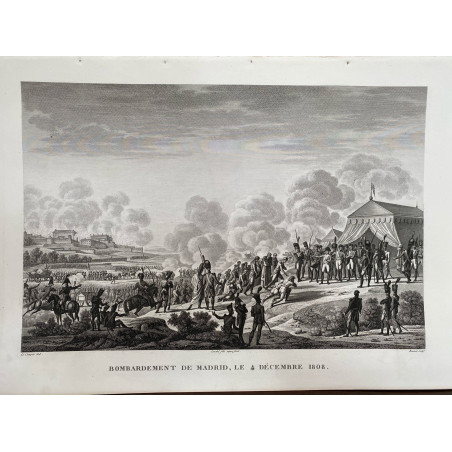 Bombardement de Madrid, le 4 Décembre 1808.