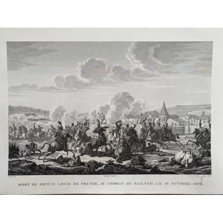 Mort du Prince Louis de Prusse, au combat de Saafeld, le 10 Octobre 1806.