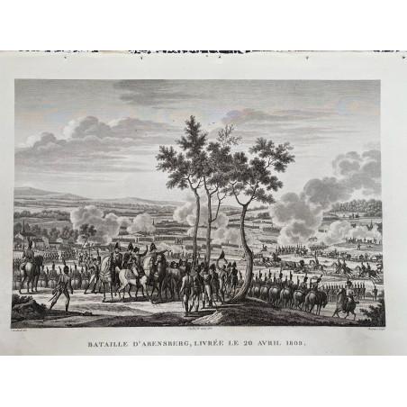 Bataille d' Abensberg, livrée le 20 Avril 1809.