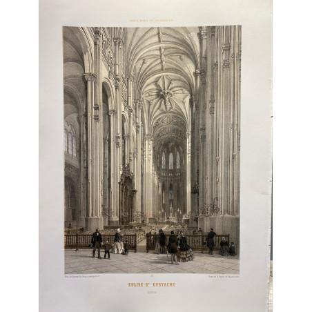 Paris dans sa splendeur, Église Saint Eustache, intérieur.