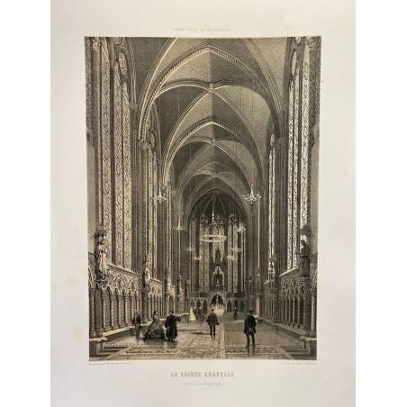 Paris dans sa splendeur, la Saint chapelle, intérieur de la chapelle haute.