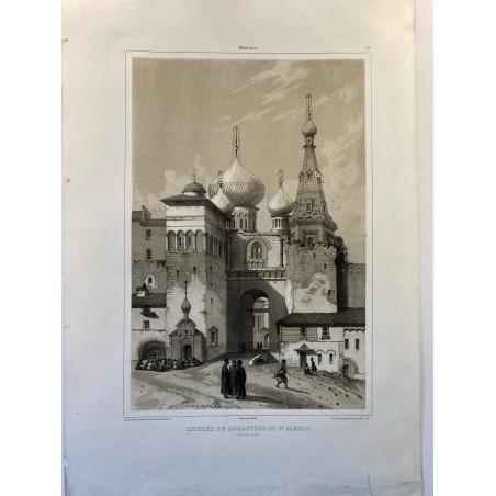 Vladimir, entrée du monastère de St Alexis.