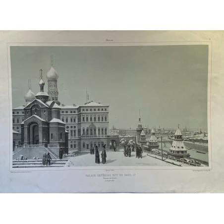 Moscou, Palais Impérial dit de Paul 1er. Terrasse du Kremlin