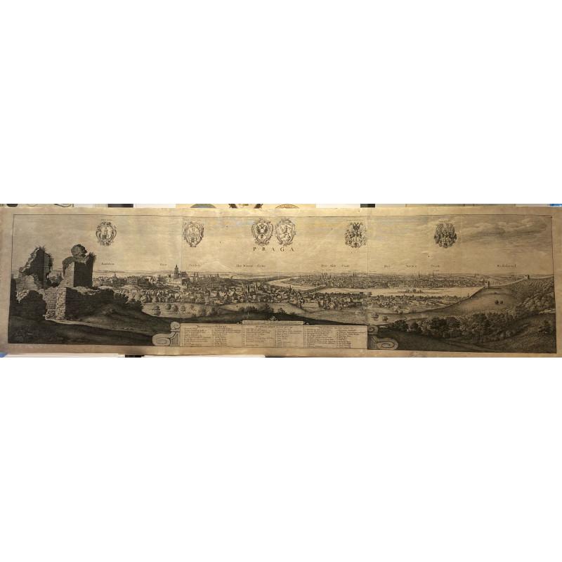 Praga, Eau forte originale,  Wentzel Hollart,1649