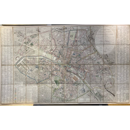 Plan de la villle de Paris, Ch Picquet 1814
