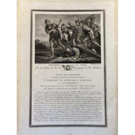 Galerie du Duc d'Orleans, 1786, portement de croix.