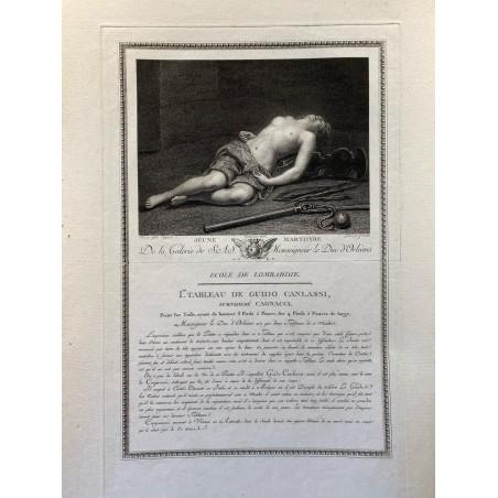 Galerie du Duc d'Orleans, 1786, jeune marthyre.