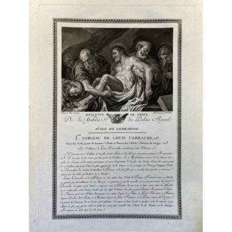 Galerie du Duc d'Orleans, 1786, descente de croix.