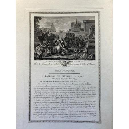 Galerie du Duc d'Orleans, 1786, le massacre des innocents.