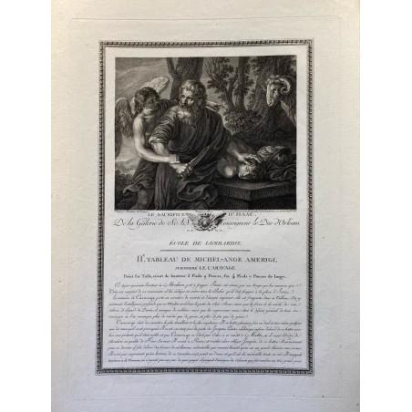 Galerie du Duc d'Orleans, 1786, le sacrifice d'Isaac.