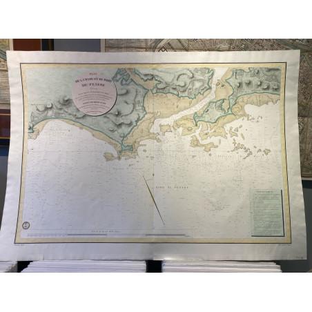Plan de la rade et du port de Penerf, 1828