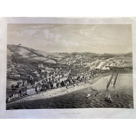 Trouville sur mer(Calvados) Ch Fichot vers 1860.