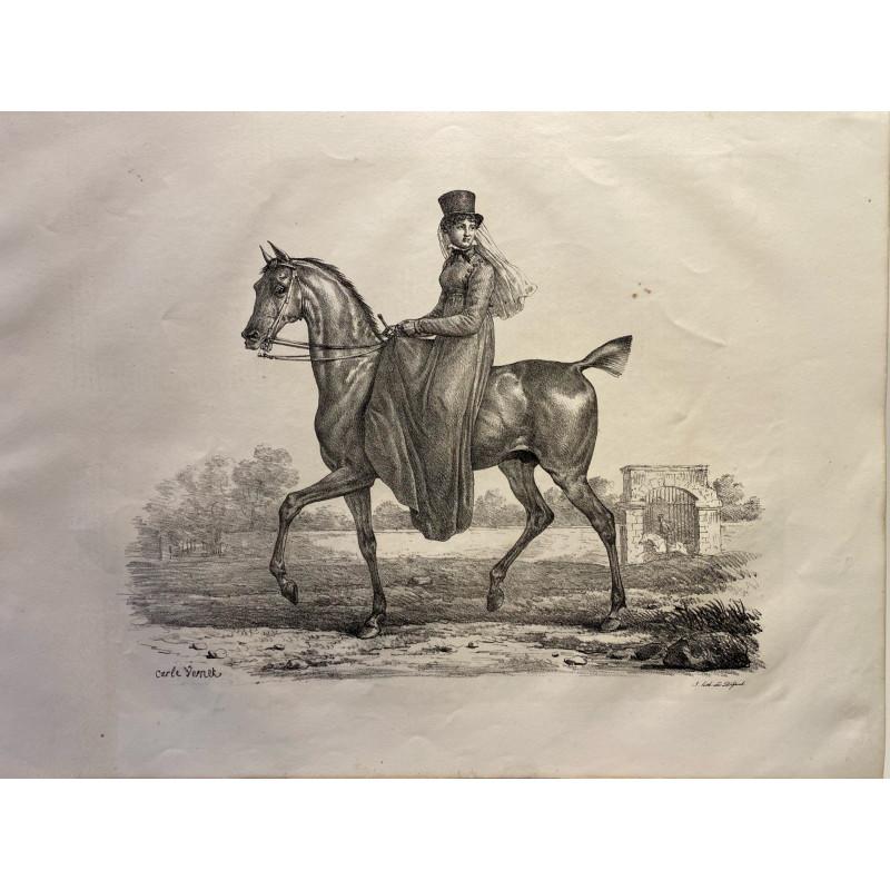 Carle Vernet, la grande suite de chevaux, 1820