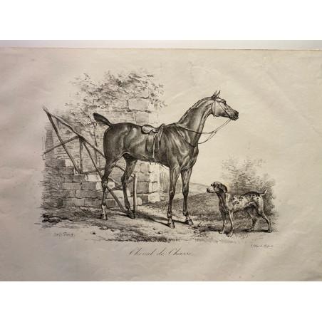 Carle Vernet, la grande suite de chevaux, 1820.