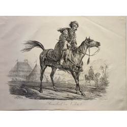 Carle Vernet, la grande suite de chevaux, 1820. Mameluck en vedette.