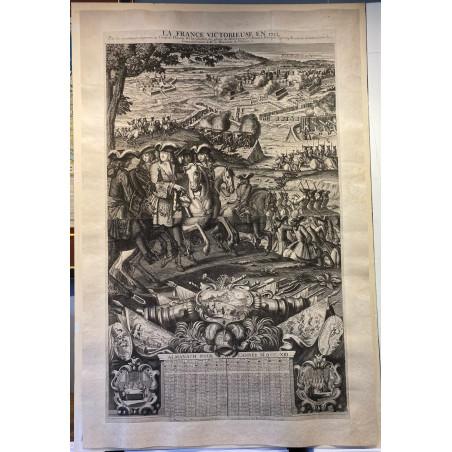La France victorieuse en 1712, Almanach pour l' année 1713. Paris Gérard Jollain.