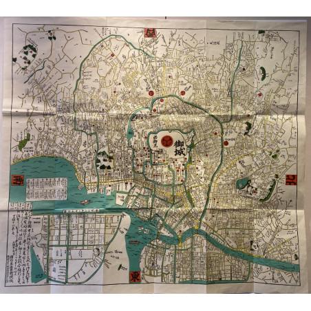 Plan de Tokyo sous l'ère Meiji (1860 ).
