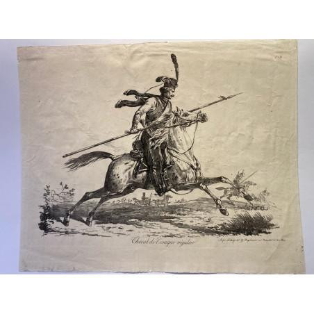 Carle Vernet, la grande suite de chevaux, vers 1820.