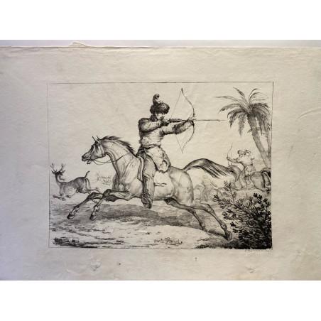 Carle Vernet, chevaux, vers 1820.