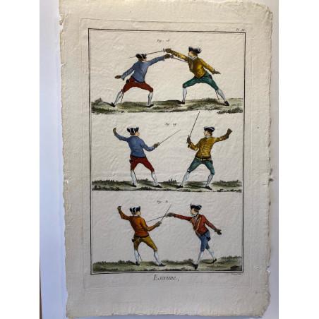 Escrime, Encyclopédie Diderot et d'Alembert.