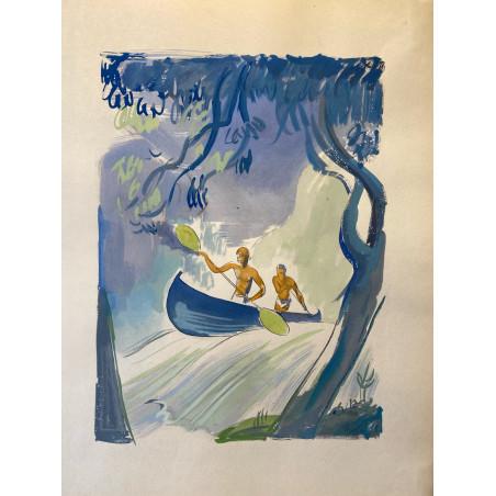Milovoy Uzelac, les joies du sport, 1932, canoe kayak.