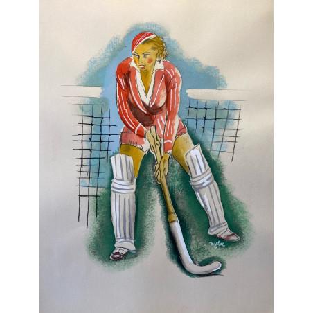 Milovoy Uzelac, les joies du sport, 1932, hockey sur gazon.