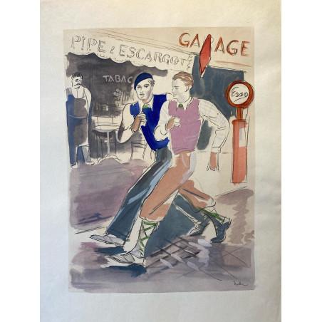 Milovoy Uzelac, les joies du sport, 1932, marche rapide.