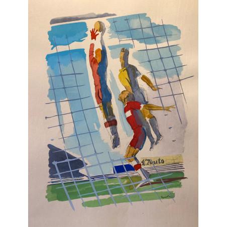 Milovoy Uzelac, les joies du sport, 1932, football.