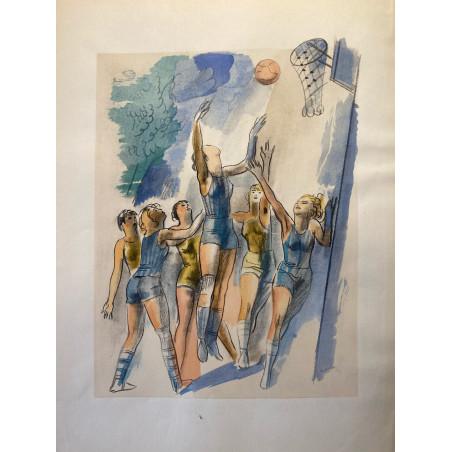 Milovoy Uzelac, les joies du sport, 1932, basket.