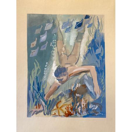 Milovoy Uzelac, les joies du sport, 1932, la natation.